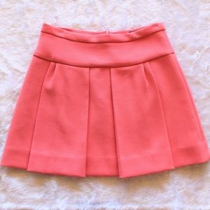 J. Crew Box Pleat Skirt Coral Pink